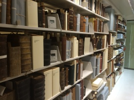 One of the many shelves in the collection.