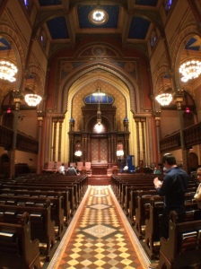 Inside Central Synagogue.