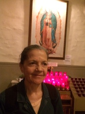 Cleotilde wanted Our Lady of Guadalupe in the photo, since I'm from Mexico.
