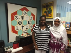 Elly Mason-Murray and Dr. Sarah Sayeed, Interfaith Center of New York.