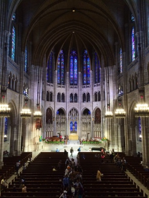 The view from the balcony at Riverside Church.
