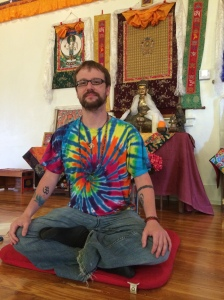 """Meditation is not easy, everybody has trouble and trying counts as meditating,"" says Daniel Scharpenburg"