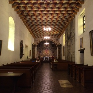 Inside the Misión Chapel
