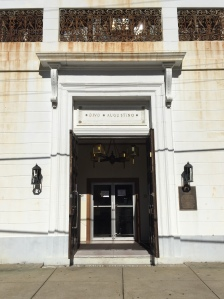 The entrance to the church.