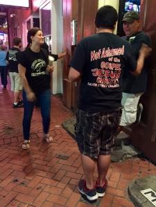 Preaching and praying along Bourbon Street