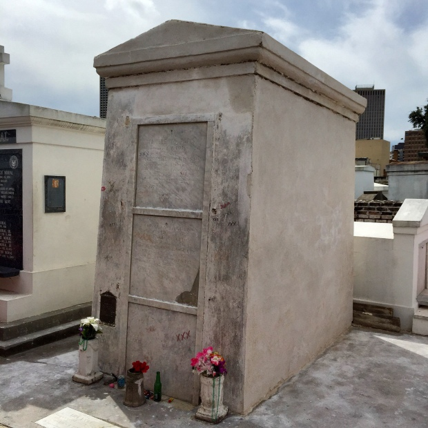 This is the tomb of Marie Laveau's daughter and it is believed to also be the final resting place of Marie Laveau herself.